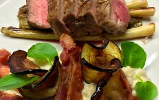 Beef Ribeye, Smokey Risotto, Port Jus