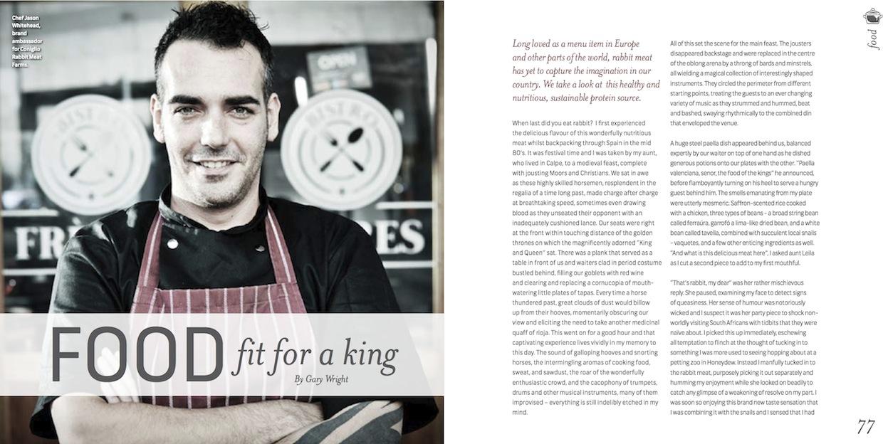 Feature in Ginja Magazine, October 2014